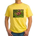 Purple Pansy Yellow T-Shirt