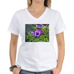 Purple Pansy Women's V-Neck T-Shirt