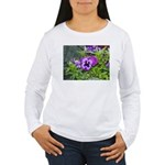 Purple Pansy Women's Long Sleeve T-Shirt