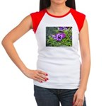 Purple Pansy Women's Cap Sleeve T-Shirt