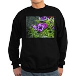 Purple Pansy Sweatshirt (dark)
