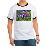 Purple Pansy Ringer T