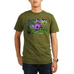 Purple Pansy Organic Men's T-Shirt (dark)