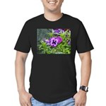 Purple Pansy Men's Fitted T-Shirt (dark)