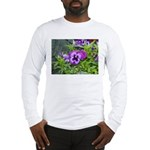 Purple Pansy Long Sleeve T-Shirt