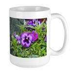Purple Pansy Large Mug