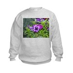 Purple Pansy Kids Sweatshirt
