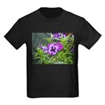 Purple Pansy Kids Dark T-Shirt