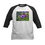 Purple Pansy Kids Baseball Jersey
