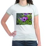 Purple Pansy Jr. Ringer T-Shirt