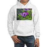 Purple Pansy Hooded Sweatshirt