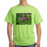 Purple Pansy Green T-Shirt
