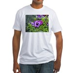 Purple Pansy Fitted T-Shirt