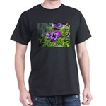 Purple Pansy Dark T-Shirt