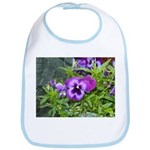 Purple Pansy Bib