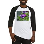 Purple Pansy Baseball Jersey