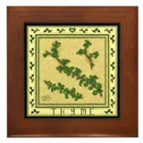 Country Herbs - Thyme Framed Tile
