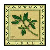 Country Herbs - Sage Tile Coaster