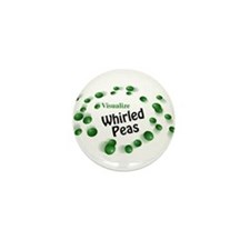 Visualize Whirled Peas Mini Button