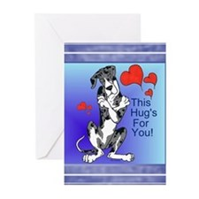 N Merle Great Dane Hugger Cards (10p)