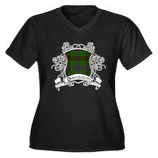 Davidson Tar Women's Plus Size V-Neck Dark T-Shirt