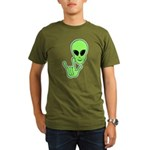 ILY Alien Organic Men's T-Shirt (dark)