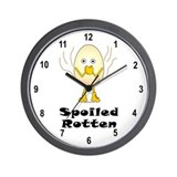 Spoiled Rotten Wall Clock