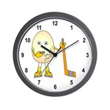 Hockey Player Wall Clock