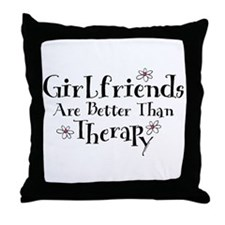 Girlfriend Therapy Throw Pillow