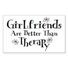 Girlfriend Therapy Rectangle Decal