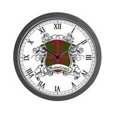 Crawford Tartan Shield Wall Clock
