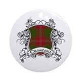 Crawford Tartan Shield Ornament (Round)