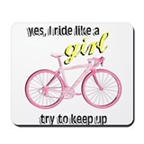 Ride Like A Girl Mousepad