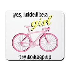 Ride Like A Girl Mousepad