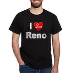 I Love Reno Nevada (Front) Black T-Shirt