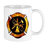 Flaming Maltese Cross Small Mug