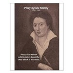 Poet Percy Shelley: Beautiful Distortion Print