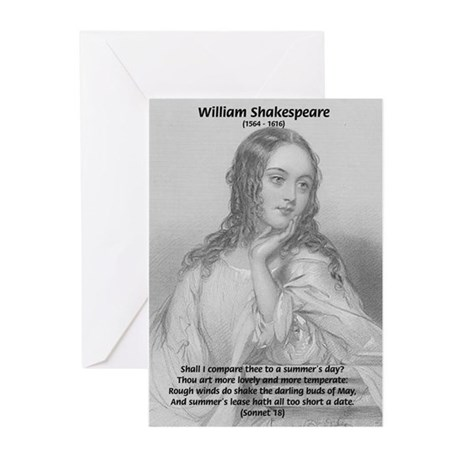 Shakespeare: Beauty of Juliet Greeting Cards (Pack