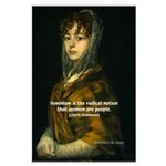 Feminism: Women as People: Goya Print Large Poster