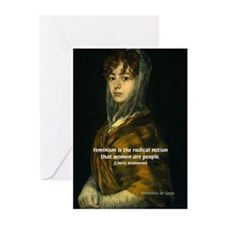 Sexuality Feminism Goya Greeting Cards (Package of