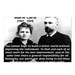 Marie Curie Better World Postcards (Package of 8)