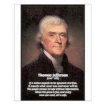 Thomas Jefferson Freedom of Press Small Posters