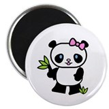 Lil' Girl Panda Magnet