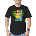Crayons Men's Fitted T-Shirt (dark)