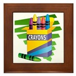 Crayons Framed Tile
