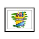 Crayons Framed Panel Print