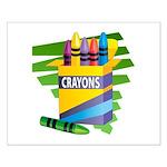 Crayons Small Poster