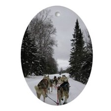Dog Sled Teams Oval Ornament