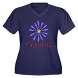 Grandma Women's Plus Size V-Neck Dark T-Shirt