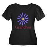 Grandma Women's Plus Size Scoop Neck Dark T-Shirt